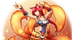 Download Foxfire Ahri Art Wallpaper League of Legends Girl 2880x1620