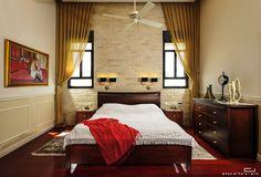 חדר שינה בבית במושב בן שמן. עיצוב פנים: מימי נורי