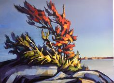 """Whispering shadows  "" acrylic on canvas 30 x 40 www.werbeland.ca #painting #canvas #acrylics #georgian bay #contemporary #shadows www.werbeland.ca Painting Canvas, Acrylic Paintings, Acrylic Art, Canadian Painters, Georgian, Acrylics, Cod, Shadows, Art Ideas"