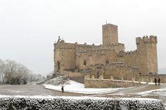 Nieve en el Castillo de Javier #Navarra #Spain