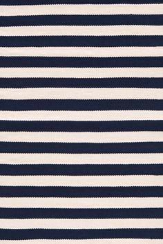 Trimaran Stripe Navy/Ivory Indoor/Outdoor | Dash & Albert Rug Company