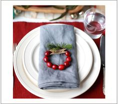 How To Make Christmas Tree Napkins & More Festive Table Decor - One Good Thing by JilleePinterestFacebookPinterestFacebookPrintFriendlyPinterestFacebook