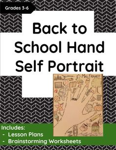 Back to School Hand Self Portrait Get to know you activity