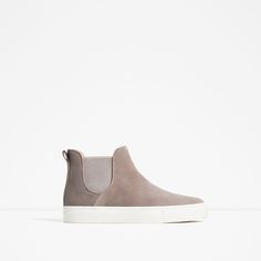 Image 2 of LEATHER SNEAKERS WITH ELASTIC from Zara