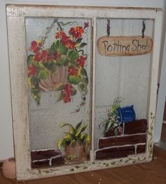 Painted Window-Potting Shed-sold.