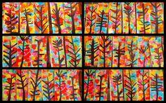 PRINCESES I CAVALLERS: TREBALLEM LES ESTACIONS Fall Art Preschool, Art Lessons Elementary, Autumn Art, Quilts, Halloween, Paper, Holiday, Kindergarten, Winter Time