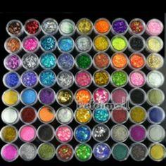 72 Pots 6 Kinds Glitter Decoration Powder Crush Shell Bead Nail Art Make Up 2435 Stencil Designs, Nail Art Designs, Cheer Makeup, Sparkle Makeup, Pots, Colorful Nail Art, Colorful Makeup, Prego, Art Journal Techniques