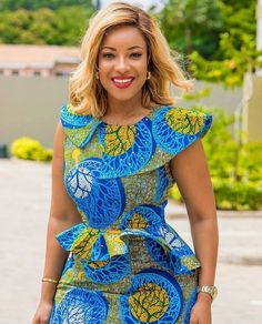 Excited to share this item from my shop: Classy African Midi Dress, Ankara Dress African Wear Dresses, Latest African Fashion Dresses, African Print Fashion, Africa Fashion, African Attire, Ankara Stil, Africa Dress, Ankara Dress, Ankara Fabric