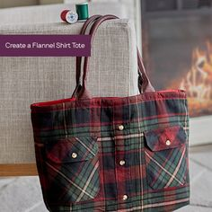 Shirt Tale Flannel Tote