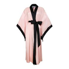 OuiHours Hesper Fox Charleston Edymion ($575) ❤ liked on Polyvore featuring intimates, robes, pink, kimono bath robe, kimono robe, dressing gown, kimono dressing gown and pink kimono robe