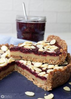 No-bake Cherry Bakewell Tart