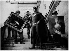 Photographer Adds Superheroes To Old War Photographs