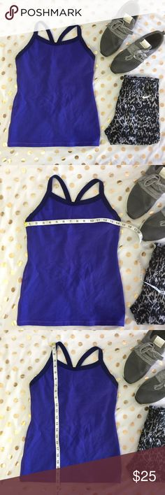 Lululemon blue racerback workout tank size 6 In good used condition  Little to no pilling  Any questions please ask  Color is purple blue  ✨✨ lululemon athletica Tops Tank Tops