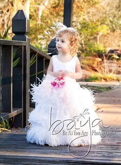 Glam Feather Dress from The Couture Baby