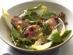 """""""Warm Lamb Salad with Pomegranate and Walnuts"""" from Cookstr.com #cookstr"""