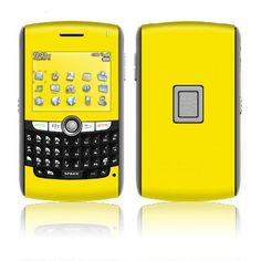 Solid State Yellow BlackBerry 8800 Series Skin