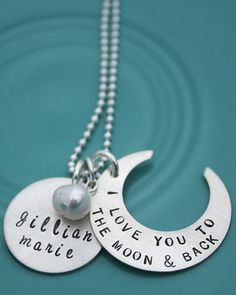 "I had this made for myself about a year ago. Me and my 4 year old always say, ""I love you to the moon, and back"" I saw this and almost cried!"
