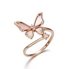 Rosia La Poeme Ring - J. Kids Gold Jewellery, Kids Jewelry, Cute Jewelry, Gold Jewelry, Ear Jewelry, Bridal Jewelry, Jewelry Accessories, Jewelry Design, Cute Rings