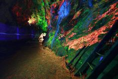 Fluorescent Interior Mining Cave at Sterling Mines, Ogdensburg, NJ  Great for a summer field trip!