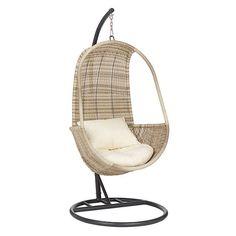 BuyJohn Lewis Dante Pod Hanging Chair, Natural Online At Johnlewis.com