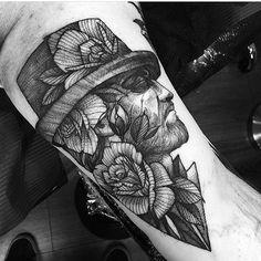 By @fredao_oliveira  #whichinkilike #linework #blackwork #blackandwhite #tattoo #tattoogallery #blackwork #blacktattoo…