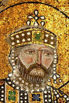 Haghia Sophia Mosaic Detail: The Byzantine Emperor Constantine IX Monomachus