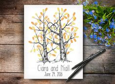 Wedding Guest Books Tree are Original Hand Drawn Artworks. This is not a print and every tree will be drawn to order. Wedding Tree Guest Book, Guest Book Tree, Guest Books, Tree Wedding, Fingerprint Wedding, Fingerprint Tree, Wedding Posters, Wedding Guest Book Alternatives, Wedding Keepsakes