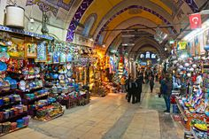 ISTANBUL - JANUARY 25,: the Grand Bazaar, considered to be the oldest shopping mall in history with over 1200 jewelry,carpet, leather,spice and souvenir shops. January 25, 2011 in Istanbul, Turkey.