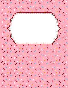 Free printable sprinkles binder cover template. Download the cover in JPG or PDF format at http://bindercovers.net/download/sprinkles-binder-cover/