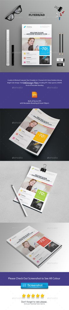 Corporate Business Flyer Design Template - Corporate Flyers Design Template Vector EPS. Download here: https://graphicriver.net/item/corporate-flyer/18840575?ref=yinkira
