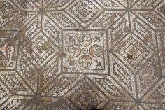 Mosaico romano de Astorga Cuadrados y estrellas