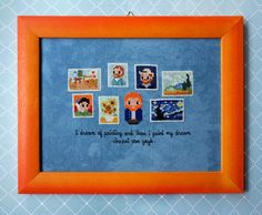 Mini Artists Galleries - Vincent Van Gogh - Cross Stitch Patterns - Products