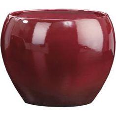 pflanzk bel yoro aus fiberglas hochglanz 21x21x19cm in rot. Black Bedroom Furniture Sets. Home Design Ideas