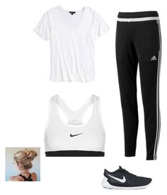 """""""Untitled #6"""" by faithbenda ❤ liked on Polyvore featuring Topshop, adidas and NIKE"""