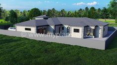 4 Bedroom House Plan – My Building Plans South Africa Tuscan House Plans, My House Plans, Family House Plans, Br House, House Front, My Building, Building Plans, Front House Landscaping, 4 Bedroom House Plans