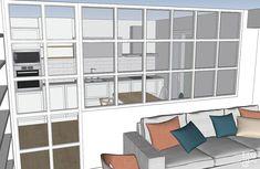Luz y oxígeno Ideas Hogar, Ideas Para, Home Kitchens, Shelves, Patio, Interior Design, Room, House, Furniture