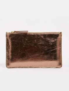Warehouse,ASOS Flat Leather Pouch Clutch Bag