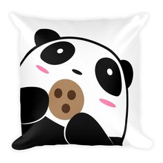 Pompo and this pillow are a fluffy combination! Pompo Cookie (White) - Square Throw Pillow