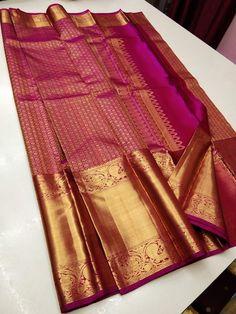 Kanjivaram Sarees Silk, Indian Silk Sarees, Silk Lehenga, Pure Silk Sarees, Sari, Bridal Sarees South Indian, Bridal Silk Saree, Saree Wedding, Bridal Hairstyle Indian Wedding