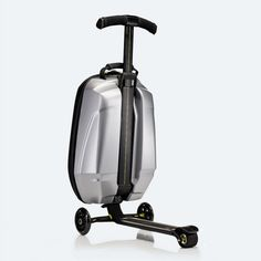 Samsonite suitcase with built in scooter? YES! Zoom to your gate in style. The scooter folds up flat and the bag conforms to overhead bin specs. Currently only in the UK, but I'm sure it will make it across the puddle soon...