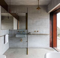 For the past year the bathroom design ideas were dominated by All-white bathroom, black and white retro tiles and seamless shower room All White Bathroom, Small Bathroom, Master Bathroom, Minimal Bathroom, Guest Bathrooms, Better Bathrooms, White Bathrooms, Luxury Bathrooms, Modern Bathrooms