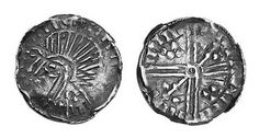 Hiberno-Norse, Phase VI, Late Debased issue Long Cross Penny, very crude bust left, crozier in front, blundered legend of strokes Coins, Old Things, Money, Rooms, Silver