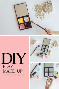 Diy play make up tutorial / make up ideas for toddlers and kids to play with