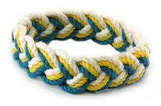 Sailor Knot Bracelet Blue & Yellow & White