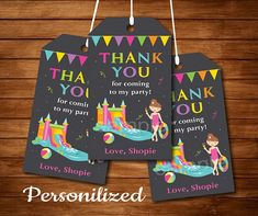 Water Slide Thank you favor tags, Water Slide party, Girls Birthday, Chalkboard - Digital Printable File by Uptownparty on Etsy Karate Birthday, Twin Birthday, Printable Invitations, Birthday Invitations, Printables, Birthday Chalkboard, Water Slides, Printed Materials, I Party
