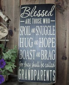 Blessed for they shall be called Grandparents Subway/ Word Art Wood Sign on Etsy, $55.94