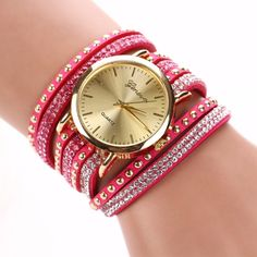 New Ladies Luxury Crystal Rivet Bracelet Watch - Perfect For All Occasions! - Big Star Trading Store