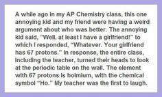 A really smart kid…