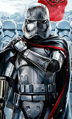 Captain Phasma and stromtroopers
