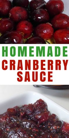 Homemade cranberry sauce is the bomb-diggity. And it's super simple, so there's no reason to go without or buy canned. Try this recipe today.